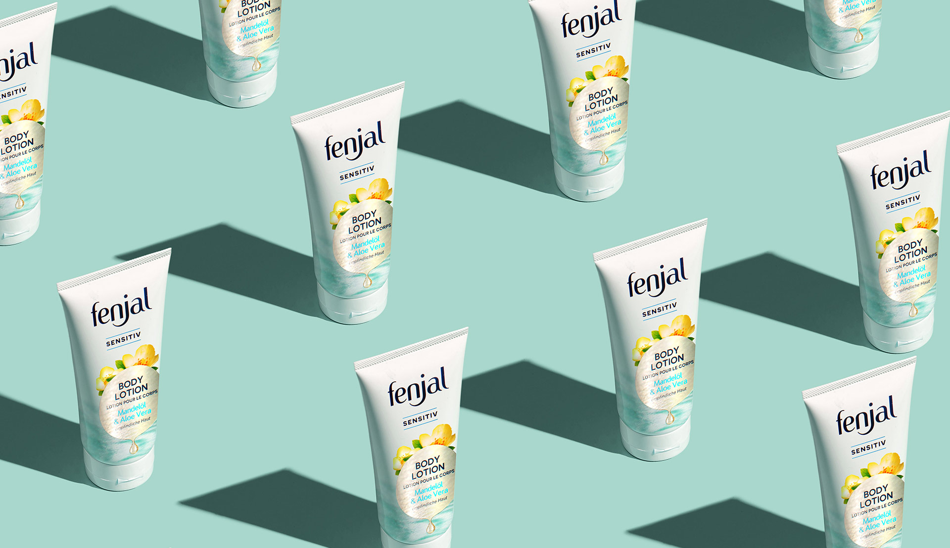 Fenjal Body Lotion Verpackungsdesign